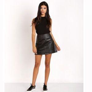 BB Dakota Brucie Leather Mini Skirt